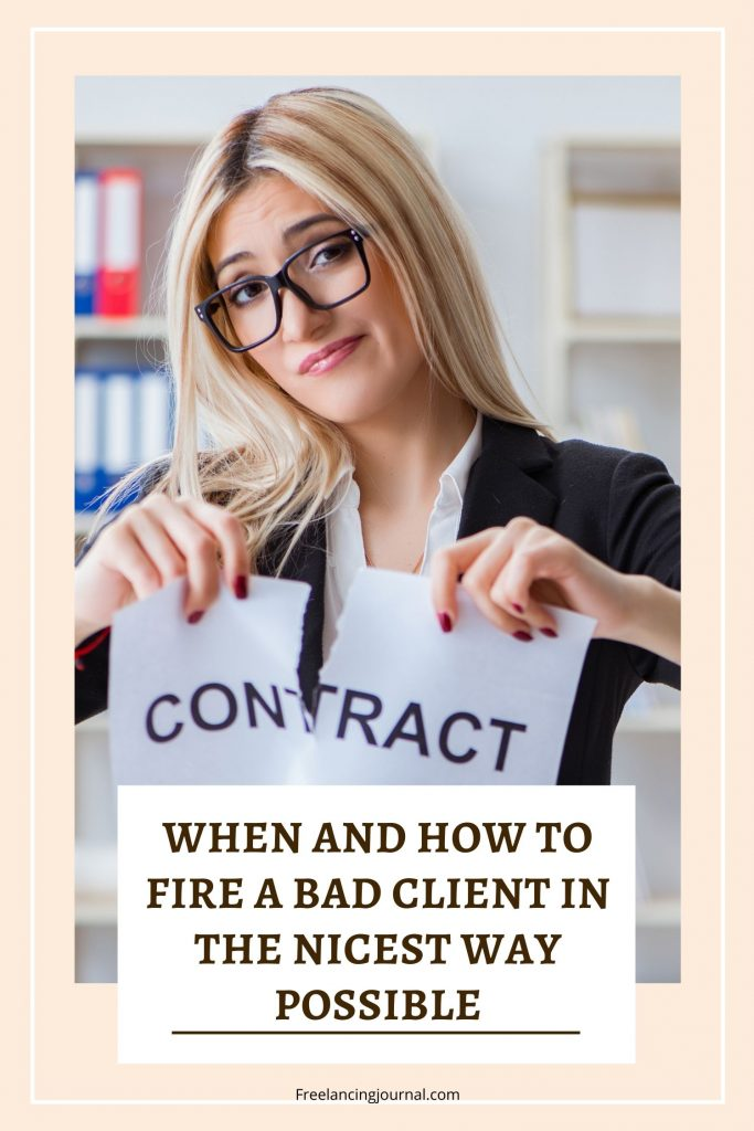 Fire a Bad Client In The Nicest Way Possible